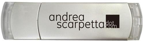 Andrea Scarpetta Logo applicazione su penna usb